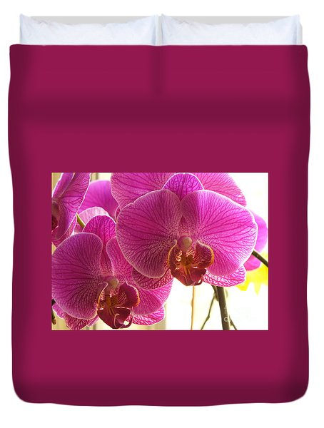Duvet Cover featuring the photograph Orchid by Lingfai Leung