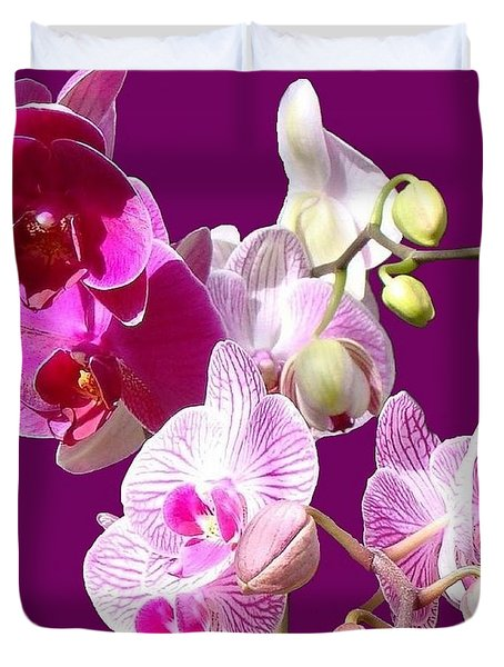 Orchids For Spring Duvet Cover