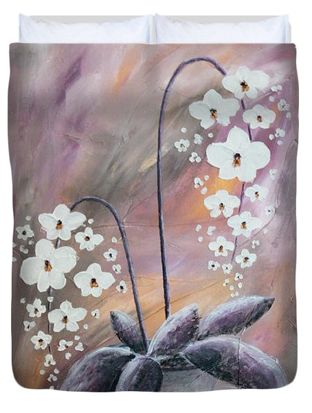 Orchids Duvet Cover by Home Art