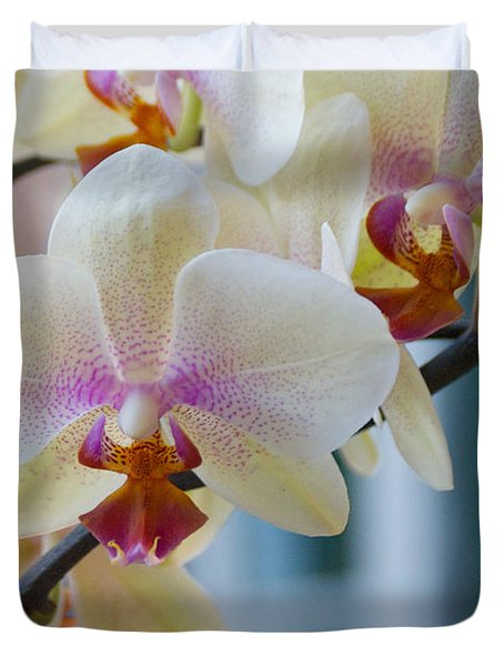 Orchids In The Morning Light Duvet Cover
