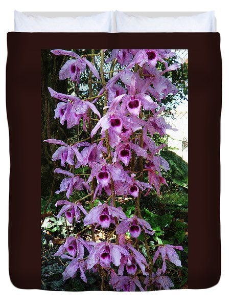 Orchids In The Spring Duvet Cover