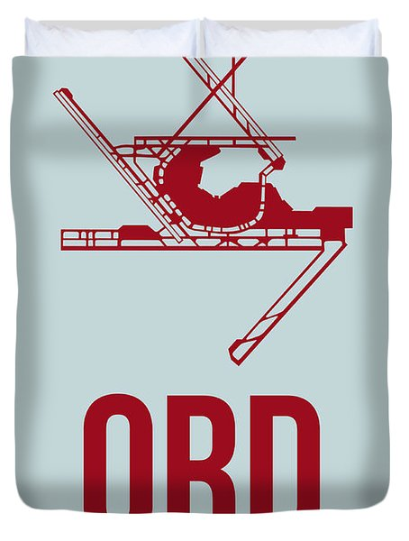 Ord Chicago Airport Poster 3 Duvet Cover