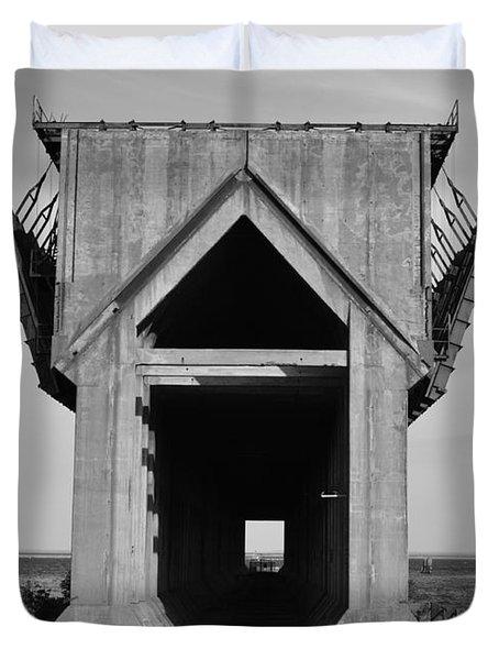 Ore Dock Marquette Michigan Duvet Cover