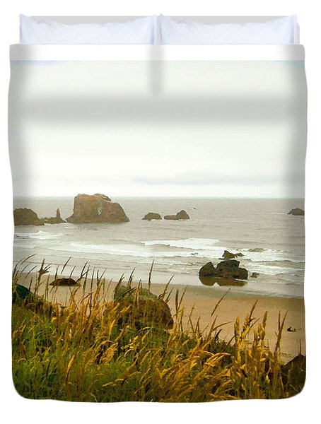 Oregon Beach Duvet Cover by Kenneth De Tore