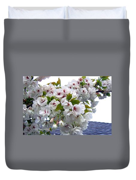 Oregon Cherry Blossoms Duvet Cover by Will Borden