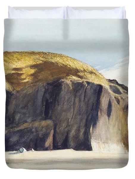 Oregon Coast Duvet Cover by Edward Hopper