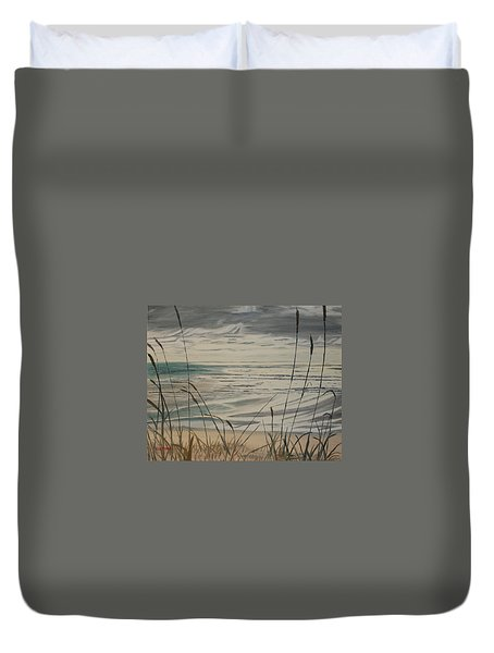 Oregon Coast With Sea Grass Duvet Cover