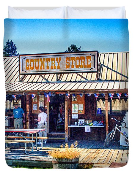 Oregon Country Store Duvet Cover by Bob and Nadine Johnston