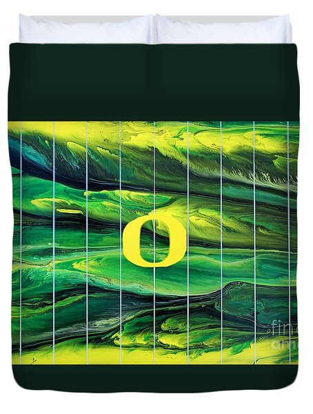 Oregon Football Duvet Cover
