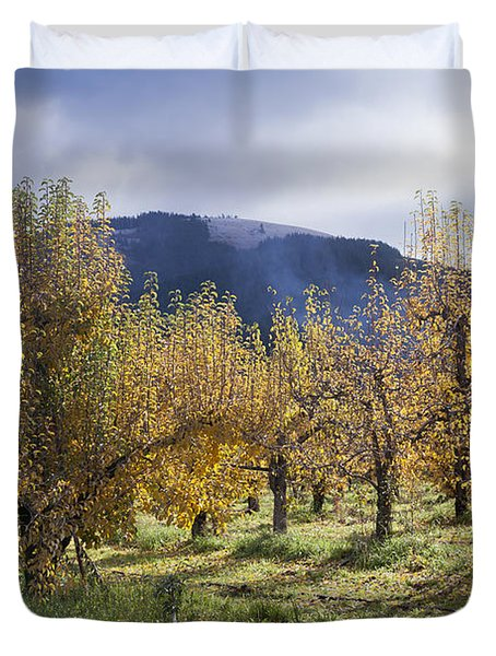 Oregon Orchard Duvet Cover by Peter French