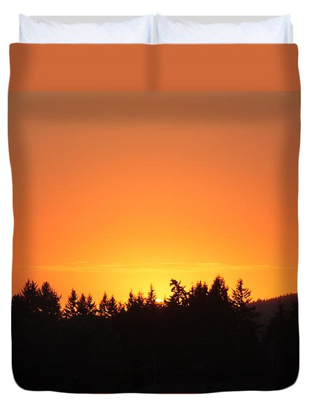 Oregon Sunset Duvet Cover