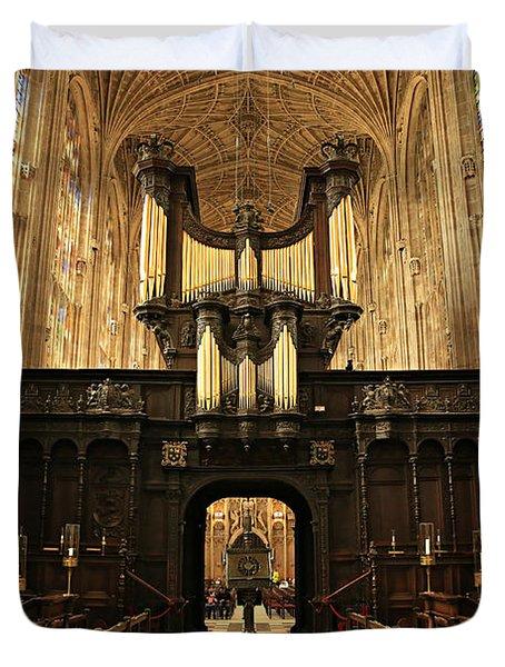 Organ And Choir - King's College Chapel Duvet Cover