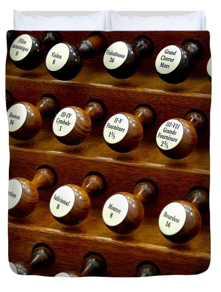 Organ Stop Knobs Duvet Cover