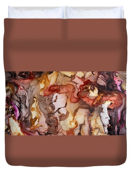 Organic 14 Duvet Cover by Angel Ortiz