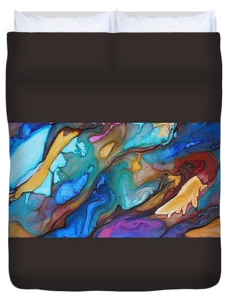Organic Duvet Cover by Angel Ortiz