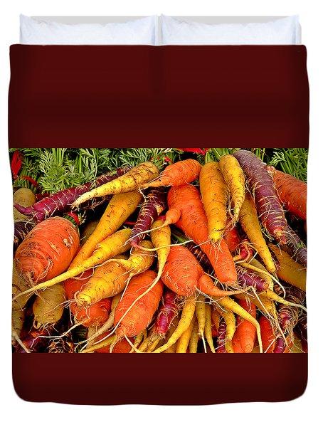 Organic Carrots Duvet Cover