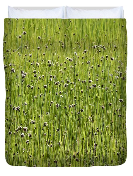 Organic Green Grass Backround Duvet Cover