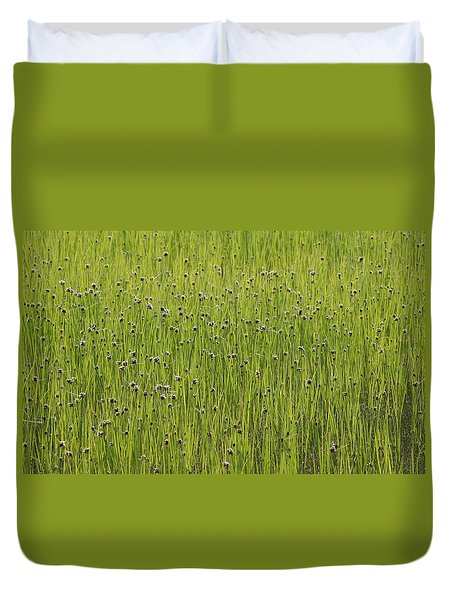 Organic Green Grass Backround Duvet Cover
