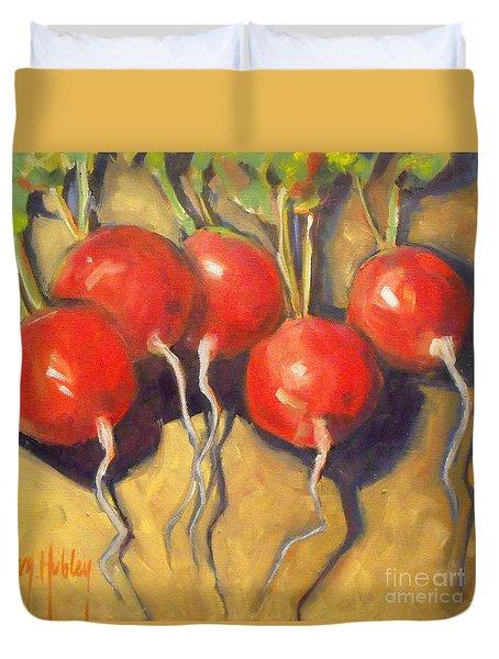 Organic Radishes Still Life Duvet Cover