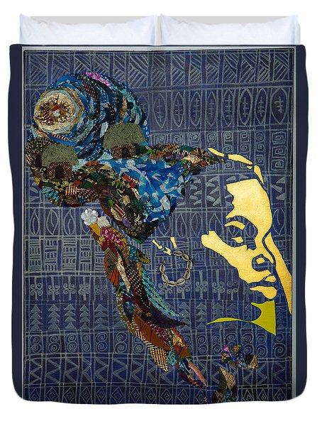 Duvet Cover featuring the tapestry - textile Ori Dreams Of Home by Apanaki Temitayo M