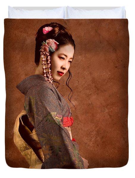 Oriental Beauty Duvet Cover