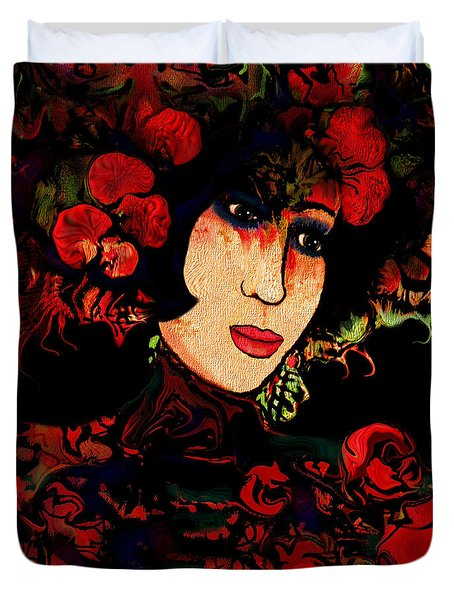 Oriental Beauty Duvet Cover by Natalie Holland