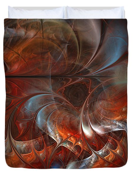Oriental Sumptuousness-floral Fractal Design Duvet Cover
