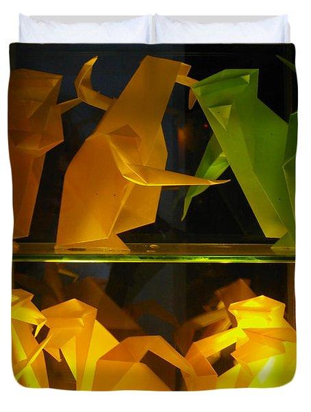 Origami Duvet Cover by Leena Pekkalainen