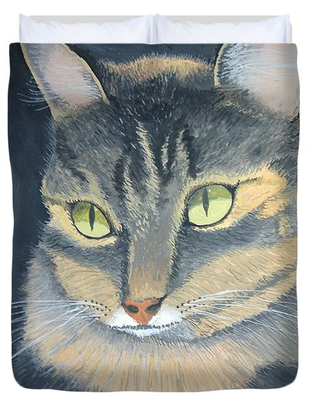 Original Cat Painting Duvet Cover by Norm Starks