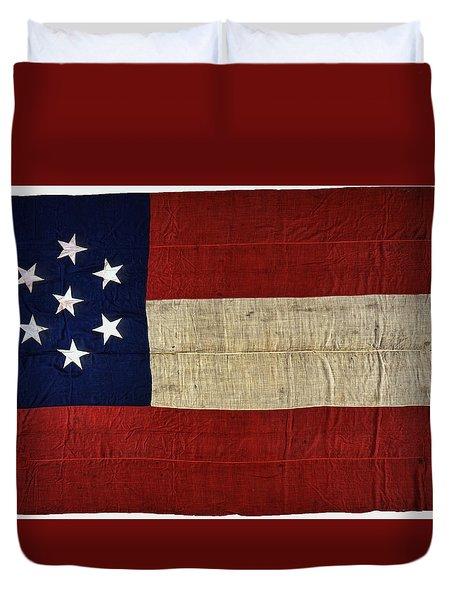 Original Stars And Bars Confederate Civil War Flag Duvet Cover by Daniel Hagerman