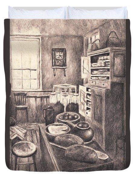 Original Old Fashioned Kitchen Duvet Cover by Kendall Kessler