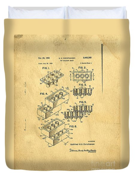 Original Us Patent For Lego Duvet Cover
