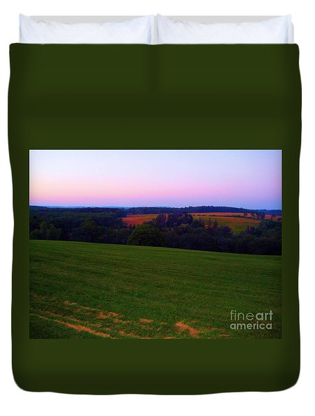 Duvet Cover featuring the photograph Original Woodstock Concert Site - Back To The Garden by Susan Carella