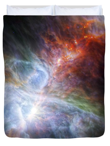 Orion's Rainbow Of Infrared Light Duvet Cover by Adam Romanowicz