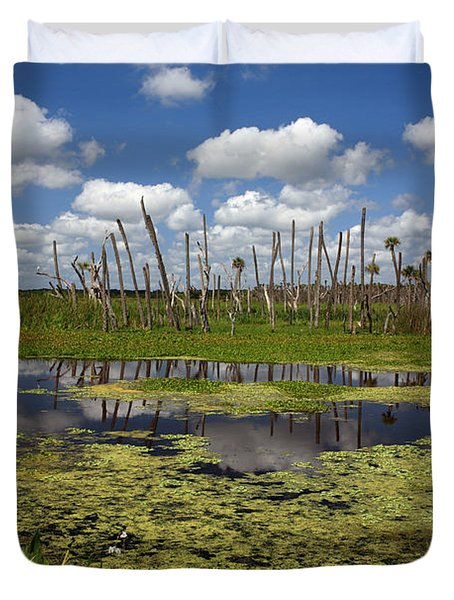 Orlando Wetlands Cloudscape 2 Duvet Cover by Mike Reid