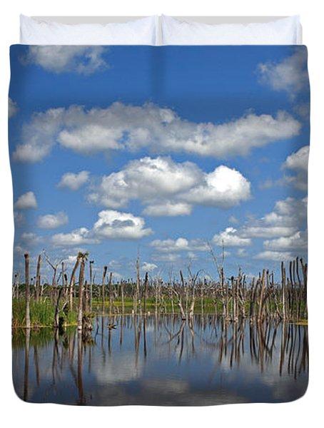 Orlando Wetlands Cloudscape 3 Duvet Cover by Mike Reid