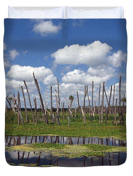 Orlando Wetlands Cloudscape Duvet Cover by Mike Reid