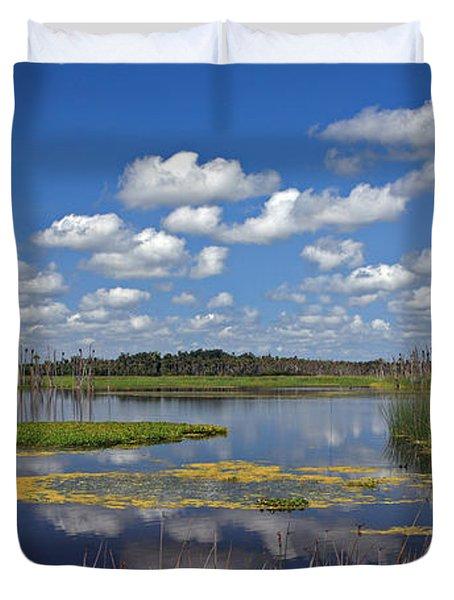 Orlando Wetlands Park Cloudscape 4 Duvet Cover by Mike Reid