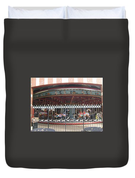 Duvet Cover featuring the photograph Ornamental Fence by Barbara McDevitt