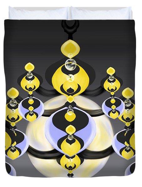 Ornamental Illumination Duvet Cover by Christine Fournier