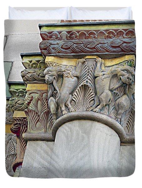Ornate Columns Giclee Duvet Cover by CR Leyland