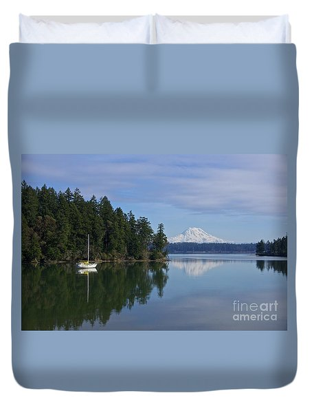 Oro Bay IIi Duvet Cover by Sean Griffin