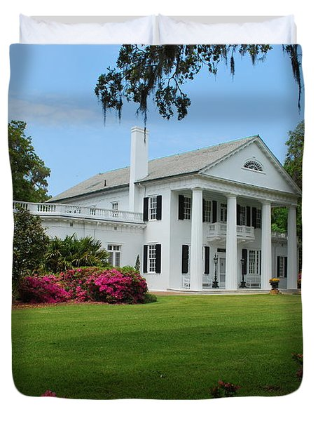 Duvet Cover featuring the photograph Orton Plantation by Bob Sample