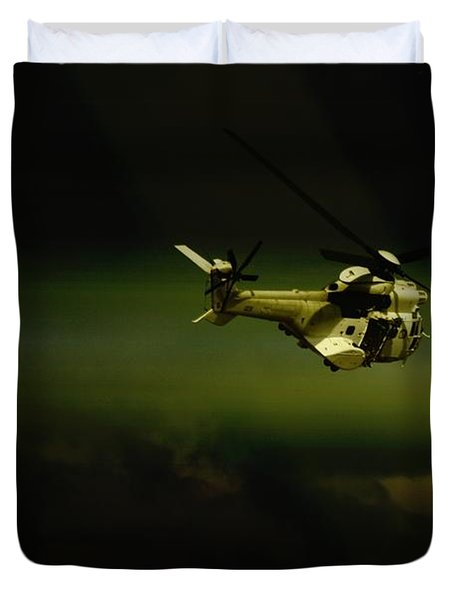 Duvet Cover featuring the photograph Oryx by Paul Job