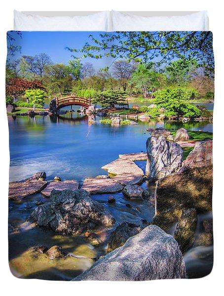 Osaka Japanese Garden Duvet Cover
