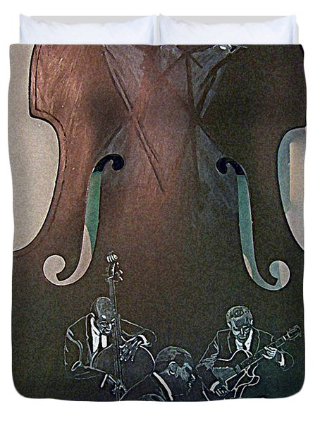 Oscar Peterson Trio Duvet Cover