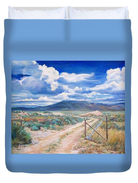 Osceola Nevada Ghost Town Duvet Cover