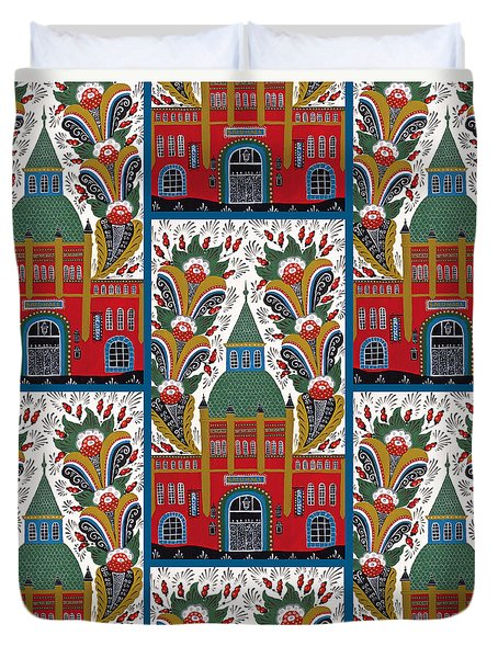 Ostermalm Saluhall  Duvet Cover by Leif Sodergren