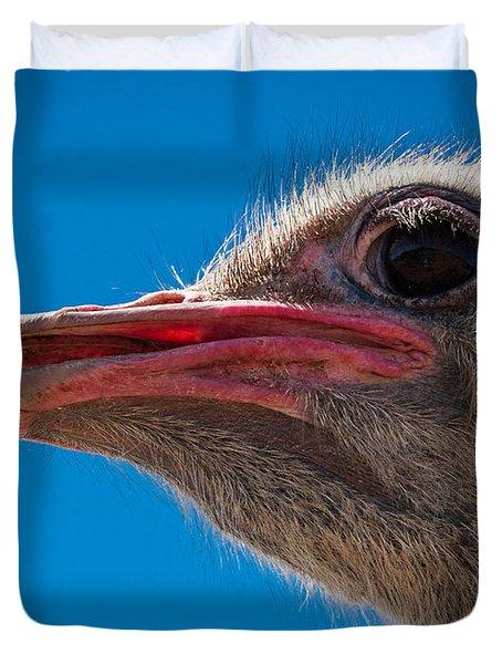 Ostrich Profile Duvet Cover by Jean Noren