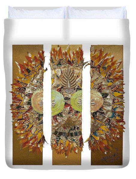 Osun Sun Duvet Cover by Apanaki Temitayo M
